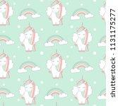 cute cartoon lovely seamless... | Shutterstock .eps vector #1131175277