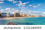 beautiful spanish village sant... | Shutterstock . vector #1131184094