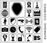set of 22 business icons.... | Shutterstock .eps vector #1131184421