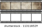 blank film strip | Shutterstock . vector #113118529
