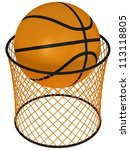 basketball hoop and ball | Shutterstock . vector #113118805