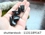tumbled apache tears  obsidian... | Shutterstock . vector #1131189167