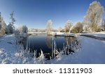A Snow Covered Rural Landscape...