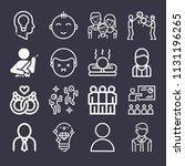 set of 16 people outline icons...   Shutterstock .eps vector #1131196265