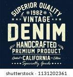 vintage superior denim ... | Shutterstock .eps vector #1131202361