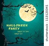 grungy halloween background... | Shutterstock .eps vector #113120341
