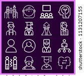 set of 16 people outline icons...   Shutterstock .eps vector #1131207155