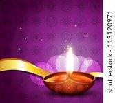 vector hindu festival diwali... | Shutterstock .eps vector #113120971