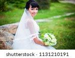 portrait of charming bride in... | Shutterstock . vector #1131210191