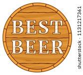 colorful carton best beer text...   Shutterstock .eps vector #1131217361