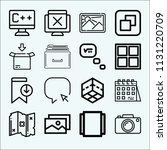 interface related set of 16... | Shutterstock .eps vector #1131220709