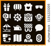 set of 16 other filled icons...   Shutterstock .eps vector #1131223205