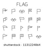 flag related vector icon set.... | Shutterstock .eps vector #1131224864