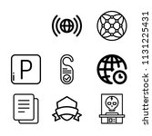 set of 8 signs outline icons...   Shutterstock .eps vector #1131225431
