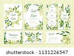 eucalyptus design. wedding... | Shutterstock .eps vector #1131226547