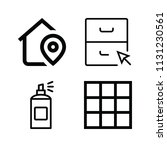 interface related set of 4...   Shutterstock .eps vector #1131230561