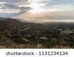 los angeles sunrise view... | Shutterstock . vector #1131234134