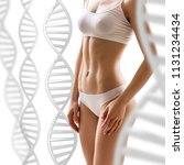 woman with perfect body near... | Shutterstock . vector #1131234434
