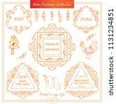 vector boho  ethnic style...   Shutterstock .eps vector #1131234851