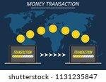 money transaction around world  ... | Shutterstock .eps vector #1131235847