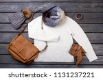 casual winter women's clothes.... | Shutterstock . vector #1131237221