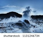 a group of tourists experience... | Shutterstock . vector #1131246734