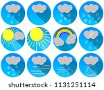 set of vector icons in the...   Shutterstock .eps vector #1131251114