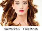 beautiful woman with perfect... | Shutterstock . vector #113125435