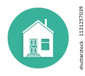 house icon in badge style with... | Shutterstock .eps vector #1131257039