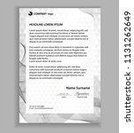 letterhead template  printable... | Shutterstock .eps vector #1131262649
