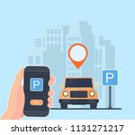 booking and payment for a...   Shutterstock .eps vector #1131271217