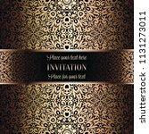 gold wedding invitation card...   Shutterstock .eps vector #1131273011