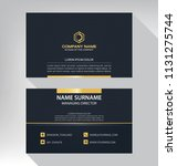 business model name card luxury ... | Shutterstock .eps vector #1131275744