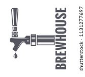 beer tap logo of brewhouse on... | Shutterstock .eps vector #1131277697