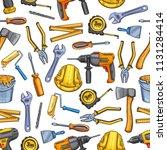 repair work tools sketch... | Shutterstock .eps vector #1131284414