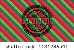 genuine christmas badge. | Shutterstock .eps vector #1131286541