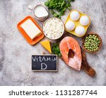 healthy foods containing... | Shutterstock . vector #1131287744