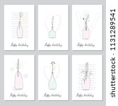 a set of hand drawn style...   Shutterstock .eps vector #1131289541