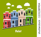 symbol of the balat district in ... | Shutterstock .eps vector #1131289904