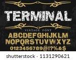 font alphabet script typeface... | Shutterstock .eps vector #1131290621
