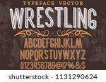 classic vintage decorative font ...   Shutterstock .eps vector #1131290624