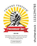 sticker friendship day  ...   Shutterstock .eps vector #1131294785