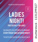 party poster for night club....   Shutterstock .eps vector #1131299327