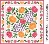 hungarian folk pattern vector.... | Shutterstock .eps vector #1131300887