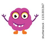 a flat icon image of a fluffy...   Shutterstock .eps vector #1131301367