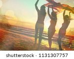 group young human friends... | Shutterstock . vector #1131307757