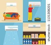 conditioner air filter vent... | Shutterstock .eps vector #1131308201