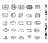 arena stadium sport scene icons ... | Shutterstock .eps vector #1131308204