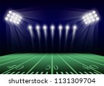 american football field concept ... | Shutterstock .eps vector #1131309704