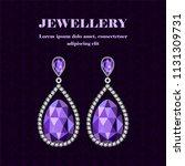 jewellery gemstones concept...   Shutterstock .eps vector #1131309731